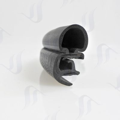 Universal Side Bubble Pinchweld weatherstrip with cover lip