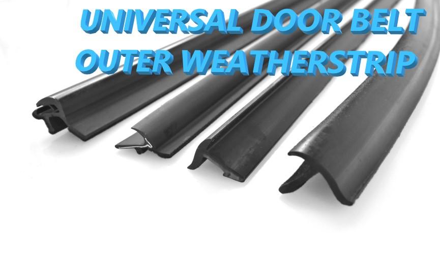 Universal DIY window outer belt weatherstrip